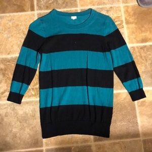 J Crew factory stripe 3/4 sleeve sweater
